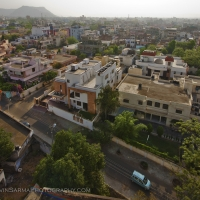 Sunrise brings light to the depths of the the Pink City: Jaipur, India.