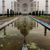 Taj Mahal Sunrise Reflection