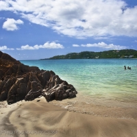 Magens Bay Rock Kids St Thomas USVI