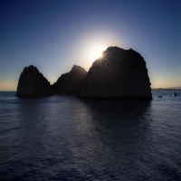 Cabo San Lucas Rocks Mountains Silhouette Sunv2