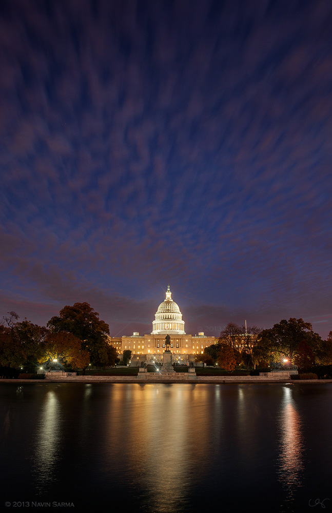 U.S. Capitol under Purple Clouds.