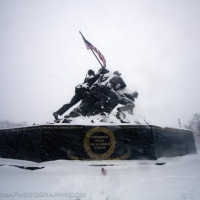 Iwo Jima Memorial Blizzard 2010