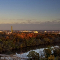 Washington DC Fall Sunset Skyline