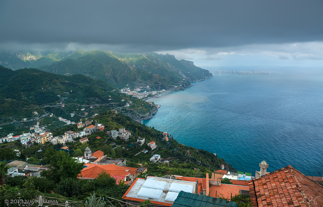 A view from the top of Capri from Ravello