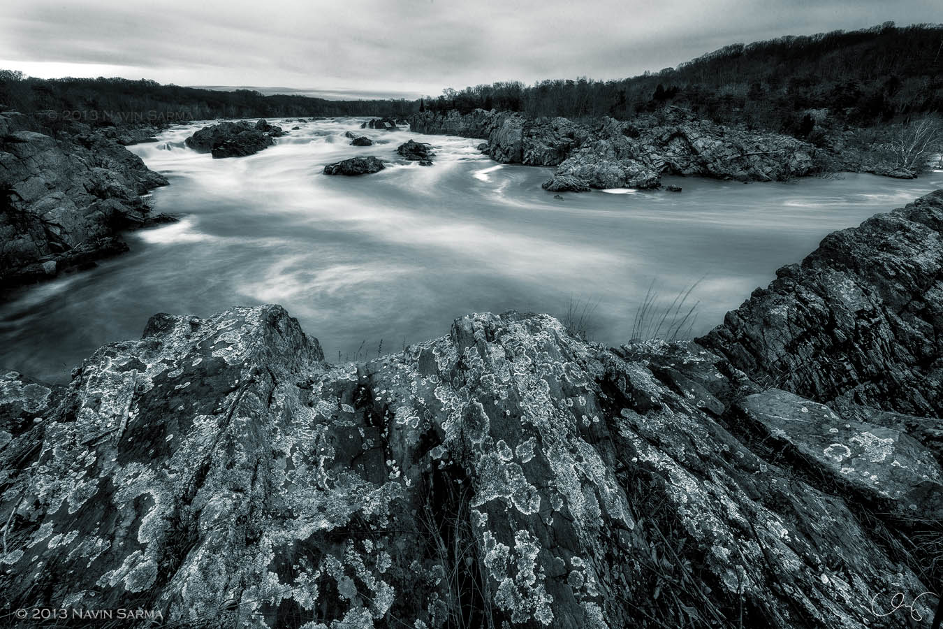 Water flow and rock formations take many shapes at Great Falls Park, VA