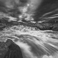 Dramatic Rapids B&amp;W