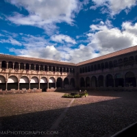Clouds Cusco Peru Courtyard