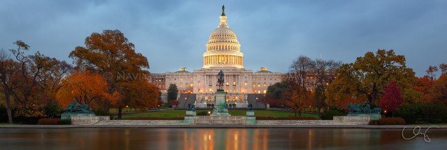 Autumn at the U.S. Capitol Panorama