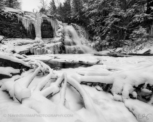 Muddy Creek Falls Swallow Falls Winter Ice