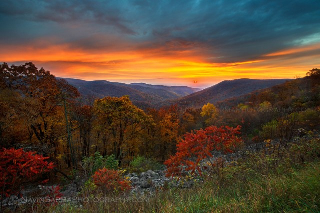 Shenandoah National Park Autumn Sunrise