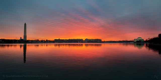 Orange and Pink Sunrise Over the Tidal Basin