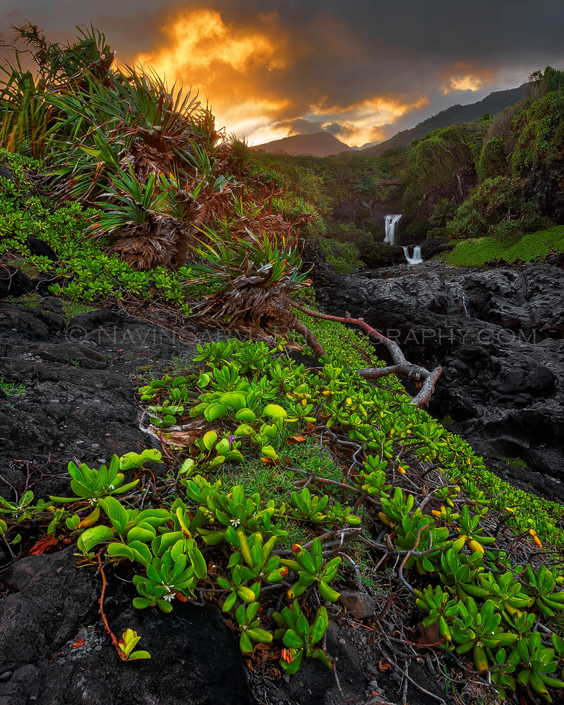 Maui Oheo Gulch Sunset Old ES Copy