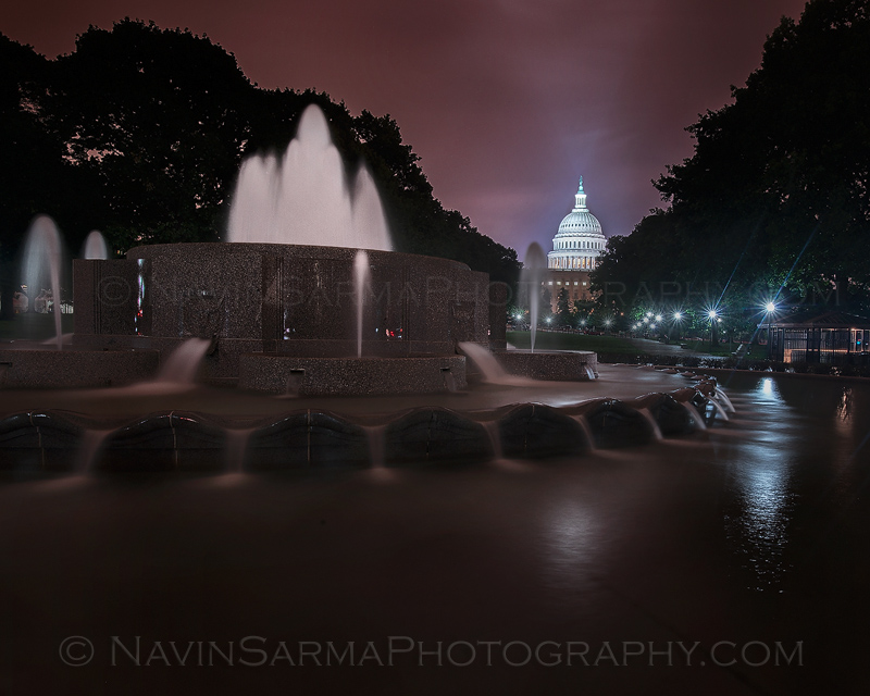 Washington Capitol Lower Senate Park Night
