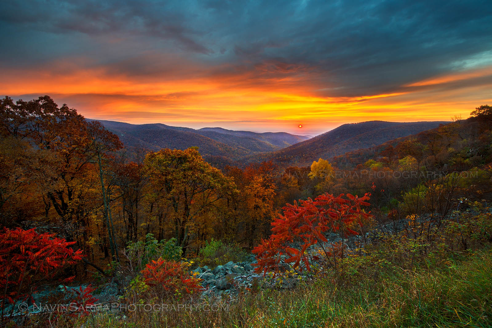 Sunrise Shenandoah Autumn Fall